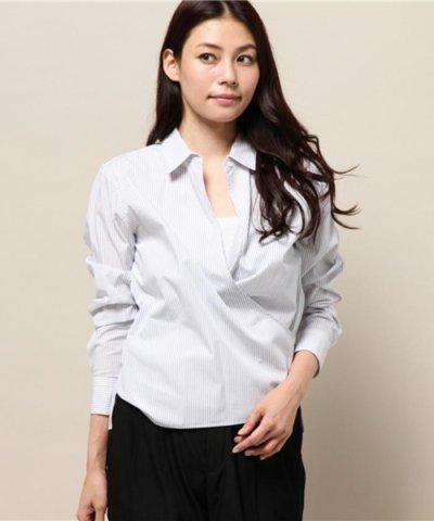 【NIJYUSANKU(23区)】Cancliniシャーティング カシュクールシャツ