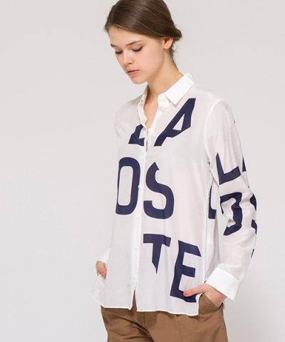 【LACOSTE(ラコステ)】『LACOSTE』プリント シャツ (長袖)