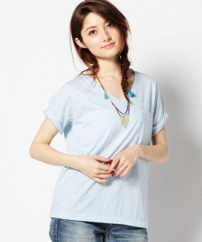 【ROSE BUD(ローズバッド)】(ROSE BUD)VネックショートスリーブTシャツ