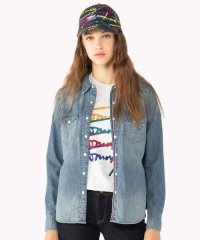 <d fashion> ロングスリーブコットンデニムシャツ