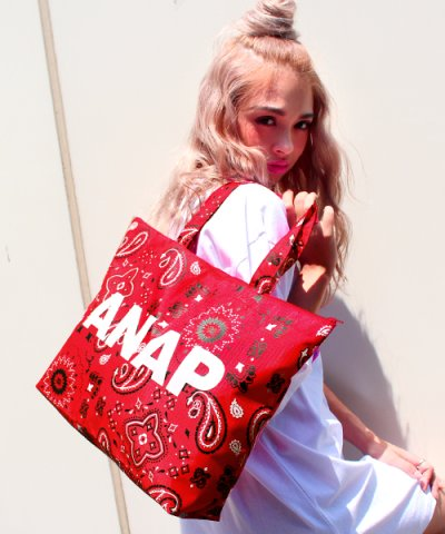 【ANAP(アナップ)】ANAPロゴペイズリー柄BAG