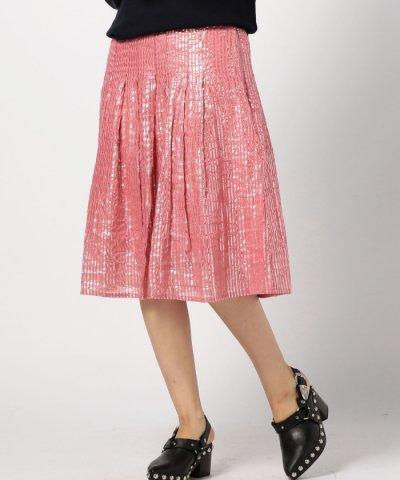 【ROSE BUD(ローズバッド)】(HLAADA FOR ROSE BUD)ラメプリーツスカート