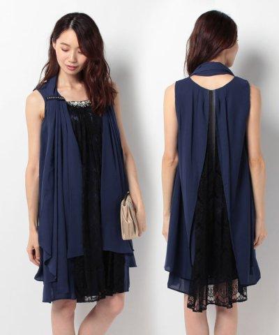 【axes femme(アクシーズファム)】3WAYショール付きドレス