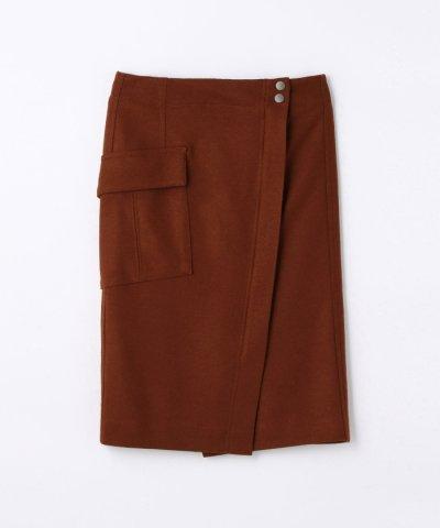 【TOMORROWLAND(トゥモローランド)】ウールジャージー ラップタイトスカート