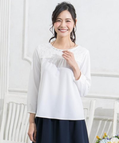 【any SiS(エニィスィス)】レーシークレープJersey カットソー