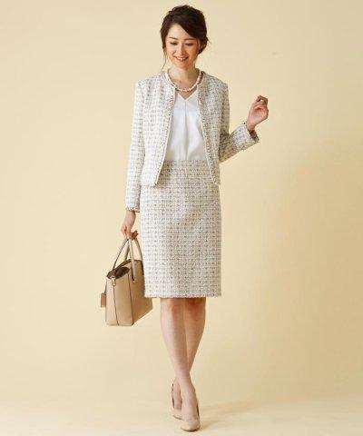 【NIJYUSANKU(23区)】LINTONツィード スカート