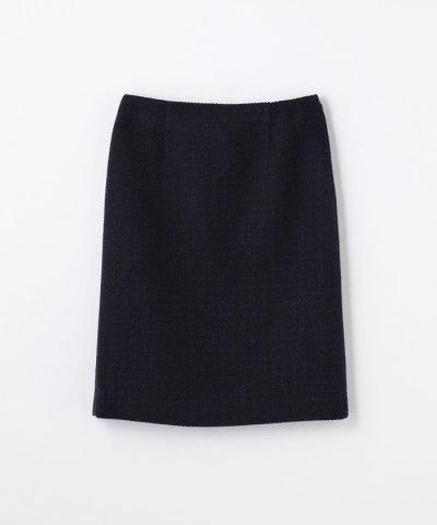【TOMORROWLAND(トゥモローランド)】ミックスツイード Iラインスカート