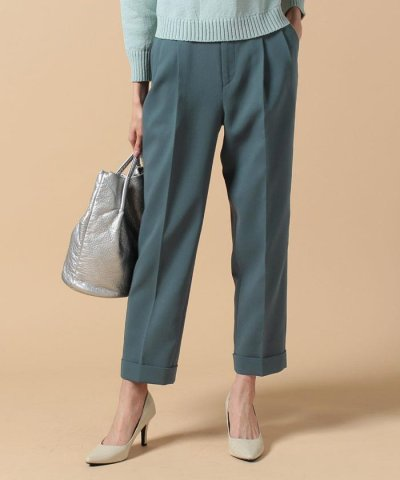 【beautifulpeople(ビューティフルピープル)】cotton double face tucked cropped pants