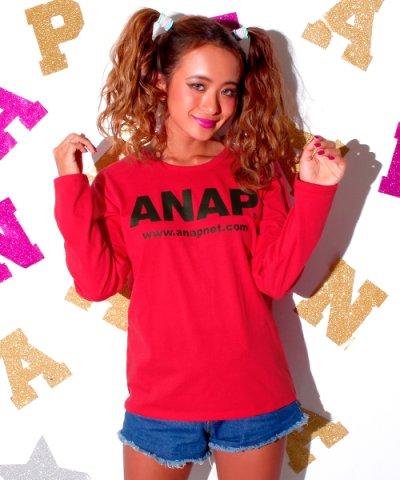 【ANAP(アナップ)】ANAPロゴロングTシャツ
