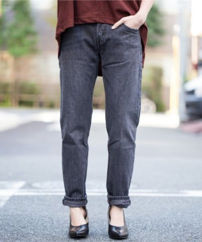 【LEVI'S(リーバイス)】501(R) CT JEANS FOR WOMEN FADING COAL