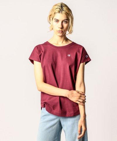【ROSE BUD(ローズバッド)】(ROSE BUD)CHAMPION 別注ラウンドヘム半袖Tシャツ