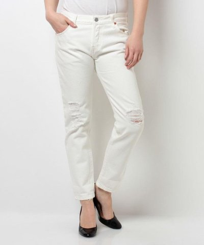 【LEVI'S(リーバイス)】501(R) CT JEANS FOR WOMEN WHITE TUMBLE
