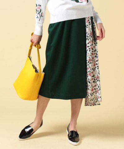 【CLANE(クラネ)】VINTAGE FLOWER DOCKING SKIRT