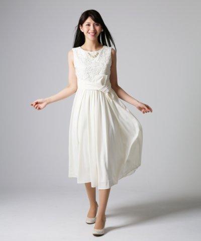 【form forma(フォルムフォルマ)】【ウェディングドレス】レース×ジョーゼット ロングウェディングドレス