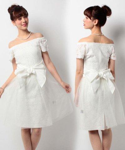 【form forma(フォルムフォルマ)】【ウェディングドレス】オーバースカート付きレースショートウェディングドレス