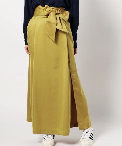 【ROSE BUD(ローズバッド)】(B.B)ウエストリボンスリットスカート