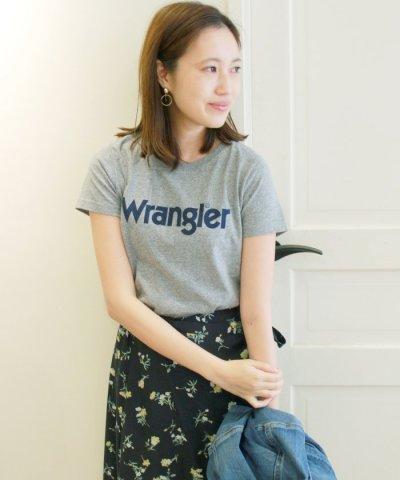 【IENA(イエナ)】WRANGLER プリントロゴTシャツ◆