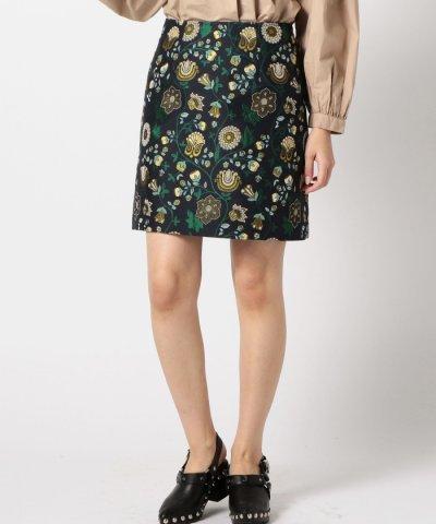 【ROSE BUD(ローズバッド)】(ROSE BUD)ボタニカル柄ミニスカート