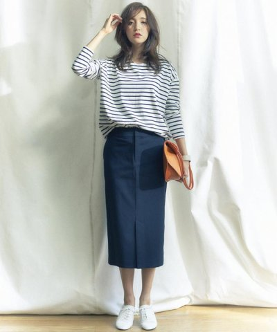 【NIJYUSANKU(23区)】REGGIANI COTTON STRETCH スカート