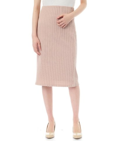 【NATURAL BEAUTY BASIC(ナチュラル ビューティー ベーシック)】【美人百花 5月号掲載】サマーリブニットセットアップスカート