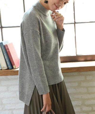 【marjour(マージュール)】wool混クルーネック燕尾ニット