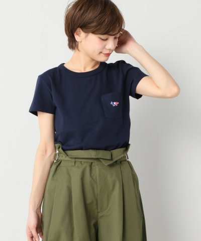 【IENA(イエナ)】MAISON KITSUNE TRICOLOR FOX PATCH Tシャツ