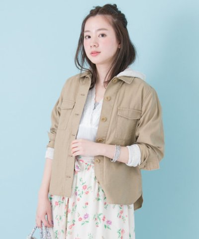 【URBAN RESEARCH(アーバンリサーチ)】パーカー付シャツジャケット
