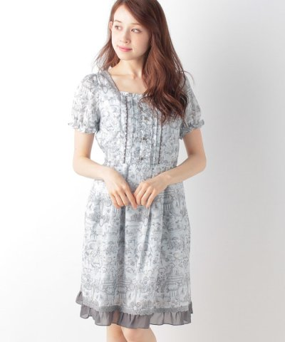【axes femme(アクシーズファム)】アンティーク柄OP