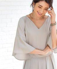 <d fashion>【MAGASEEK限定】フレアーラインオールインワン画像