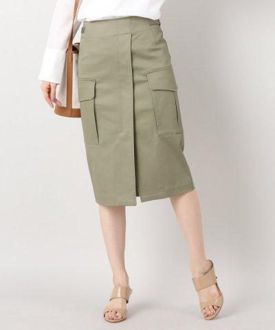 【IENA(イエナ)】綿ツイル ミリタリースカート