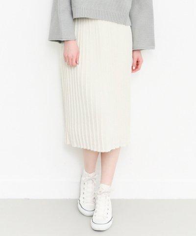 【KBF】ニットプリーツスカート