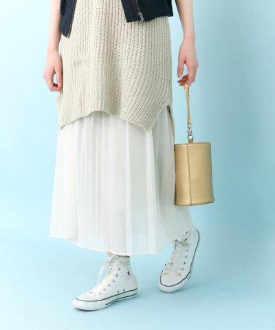 【URBAN RESEARCH(アーバンリサーチ)】【KBF】シフォンプリーツラップスカート