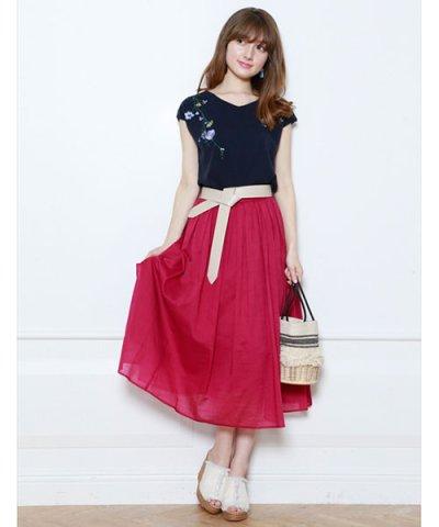【Mystrada(マイストラーダ)】【VERY 6月号掲載】カラーボイルスカート