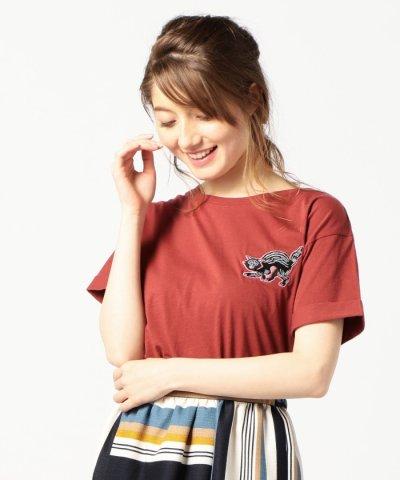 【ROSE BUD(ローズバッド)】(ROSE BUD)バックレースアップデザインTシャツ