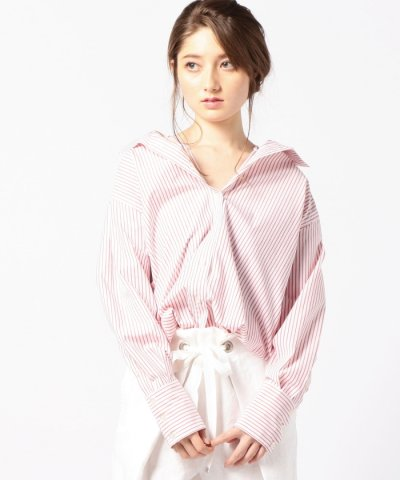 【ROSE BUD(ローズバッド)】(ROSE BUD)ストライプ柄シャツ