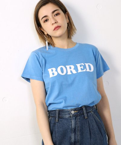 【AZUL by moussy(アズールバイマウジー)】20/ 綿天竺BORED T