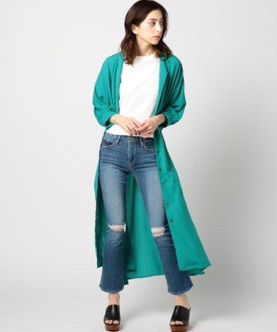 【ROSE BUD(ローズバッド)】(OKIRAKU)ベルトつきシャツワンピース