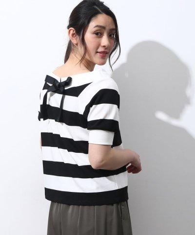 【ViS(ビス)】2WAYオフショルダーリボン半袖プルオーバー