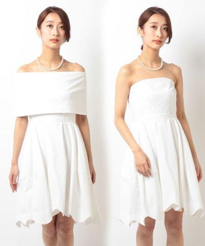 【form forma(フォルムフォルマ)】【ウェディングドレス】2WAYショートウェディングドレス