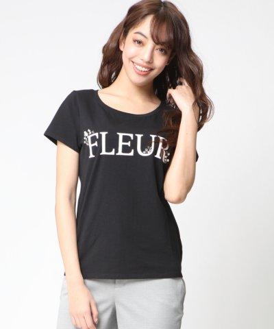 【VICKY(ビッキー)】FLEURロゴビジューTシャツ