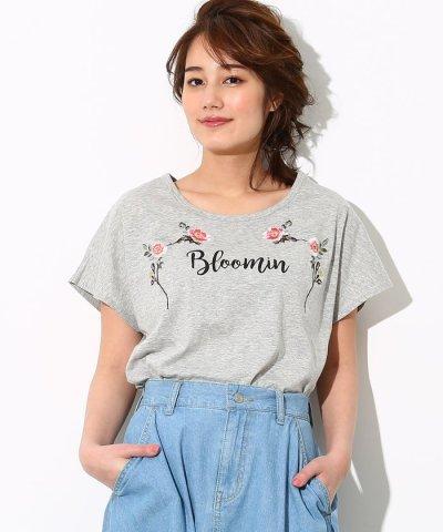 【ViS(ビス)】UV加工花刺繍Tシャツ