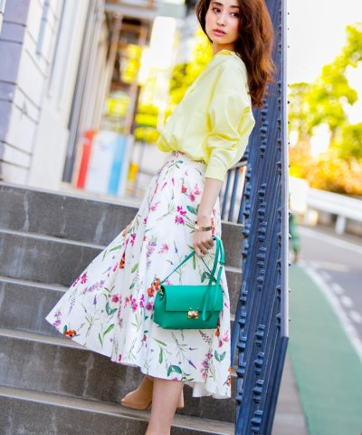 【Mystrada(マイストラーダ)】【VERY 6月号掲載】サマーフラワースカート