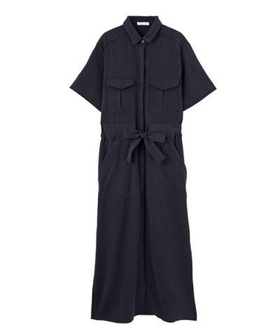 【STYLE DELI(スタイルデリ)】【LUXE】ウエストマークロングシャツドレス