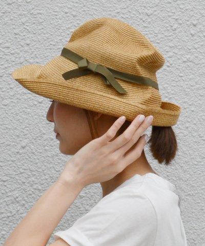 【カラー別注】mature ha.(マチュアーハ):ボックス ハット 11センチ ブリム