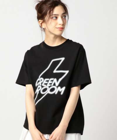 【ROSE BUD(ローズバッド)】(ROSE BUD)GREEN ROOMプリント半袖Tシャツ