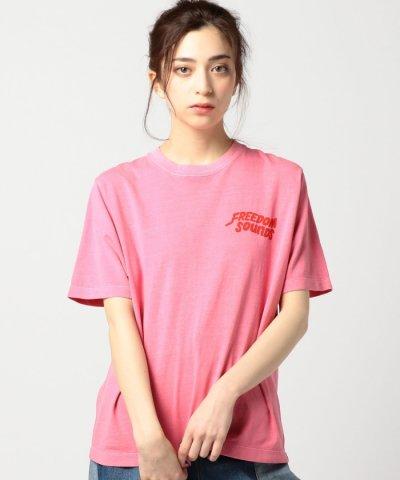 【ROSE BUD(ローズバッド)】(ROSE BUD)GREEN ROOMロゴプリント半袖Tシャツ