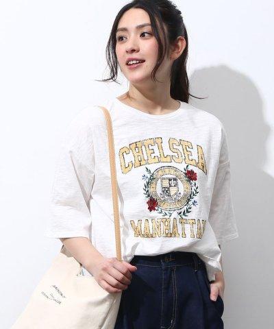 【ViS(ビス)】USED風刺繍プリントTシャツ