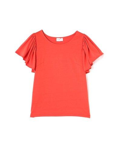 【PROPORTION BODY DRESSING(プロポーション ボディドレッシング)】《BLANCHIC》ラッフルTシャツ