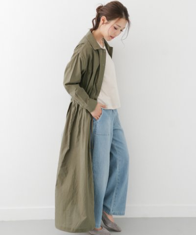 【URBAN RESEARCH(アーバンリサーチ)】【WAREHOUSE】綿麻マキシシャツワンピース