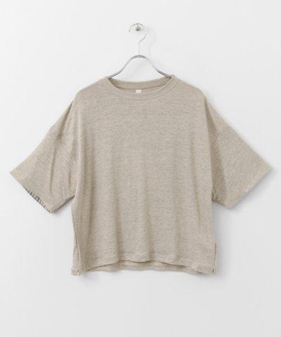 【URBAN RESEARCH DOORS(アーバンリサーチドアーズ)】siiwa リネン袖別地Tシャツ